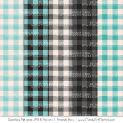 Aqua & Pewter Cozy Plaid Patterns