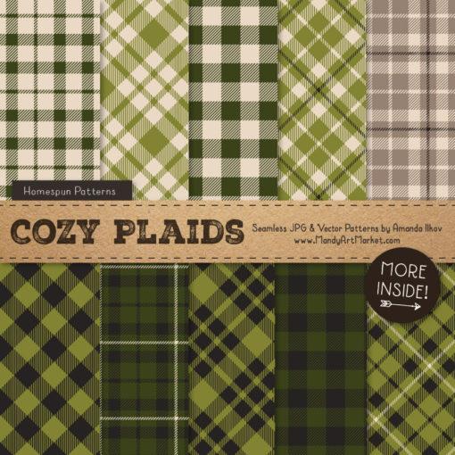Avocado Cozy Plaid Patterns