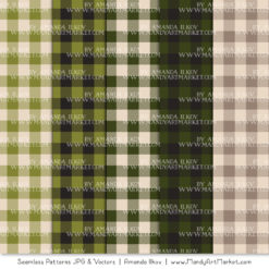 Avocado Cozy Plaid Patterns