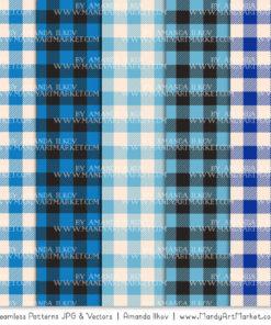 Blue Cozy Plaid Patterns