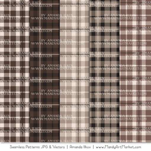 Brown Cozy Plaid Patterns