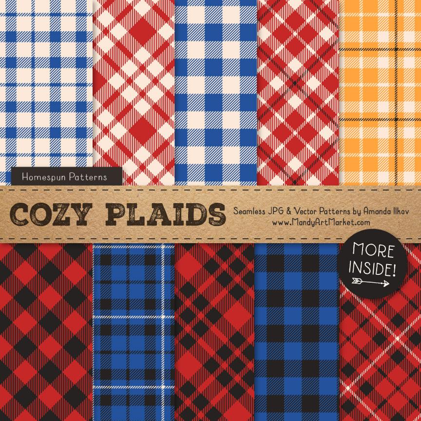 Crayon Box Boy Cozy Plaid Patterns