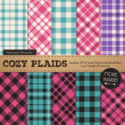 Crayon Box Girl Cozy Plaid Patterns