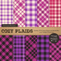 Fuchsia Cozy Plaid Patterns