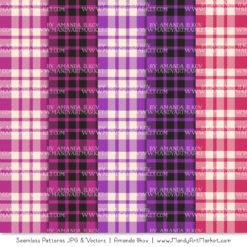 Fuchsia Cozy Plaid Patterns