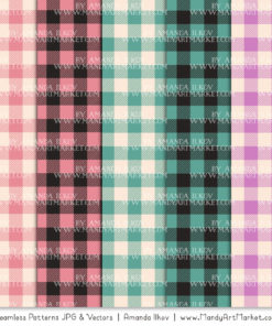 Garden Party Cozy Plaid Patterns