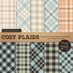 Grandmas Garden Boy Cozy Plaid Patterns