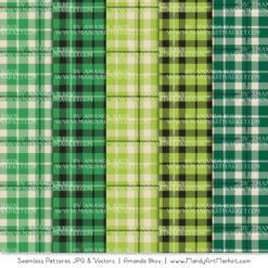 Green Cozy Plaid Patterns