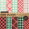Mint & Coral Cozy Plaid Patterns