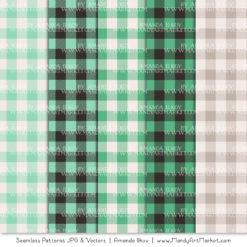 Mint Cozy Plaid Patterns