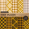 Mustard Cozy Plaid Patterns
