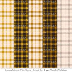 Mustard Cozy Plaid Patterns