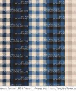 Navy Cozy Plaid Patterns