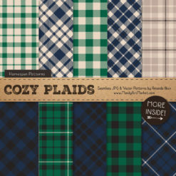 Navy & Emerald Cozy Plaid Patterns