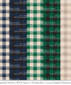 Navy & Emerald Cozy Plaid Patterns
