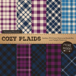 Navy & Plum Cozy Plaid Patterns