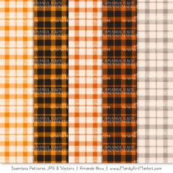 Orange Cozy Plaid Patterns