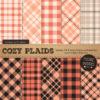 Peach Cozy Plaid Patterns