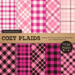 Pink Cozy Plaid Patterns
