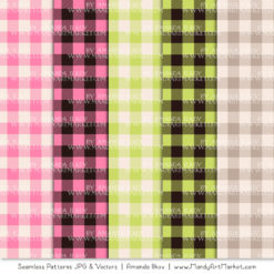 Pink & Green Cozy Plaid Patterns