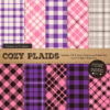 Pink & Purple Cozy Plaid Patterns