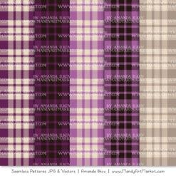 Plum Cozy Plaid Patterns
