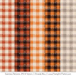 Pumpkin Cozy Plaid Patterns