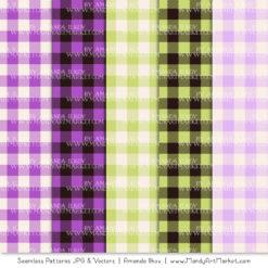 Purple & Lime Cozy Plaid Patterns