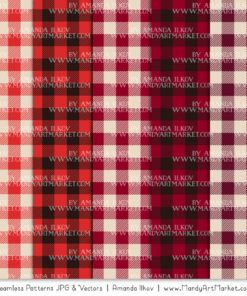 Red Cozy Plaid Patterns