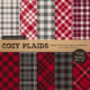 Red & Pewter Cozy Plaid Patterns