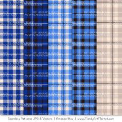 Royal Blue Cozy Plaid Patterns