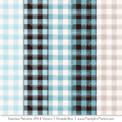 Soft Blue Cozy Plaid Patterns