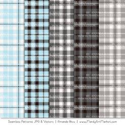 Soft Blue & Pewter Cozy Plaid Patterns