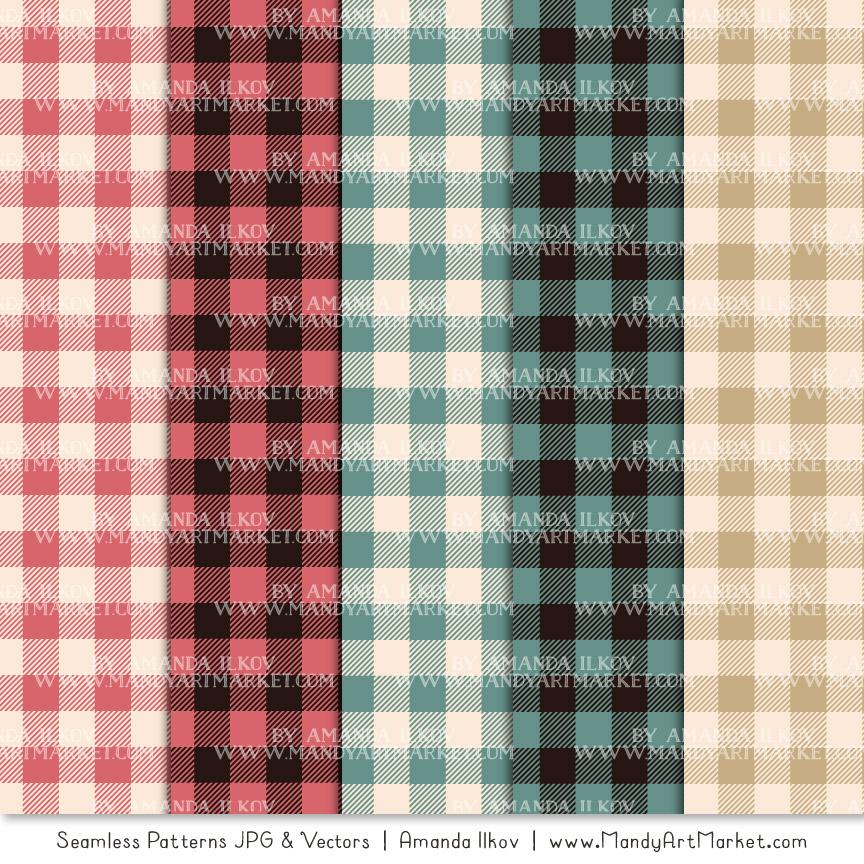 Soft Christmas Cozy Plaid Patterns