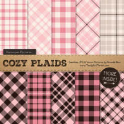 Soft Pink Cozy Plaid Patterns