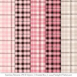 Soft Pink Cozy Plaid Patterns
