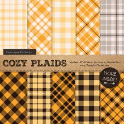 Sunshine Cozy Plaid Patterns