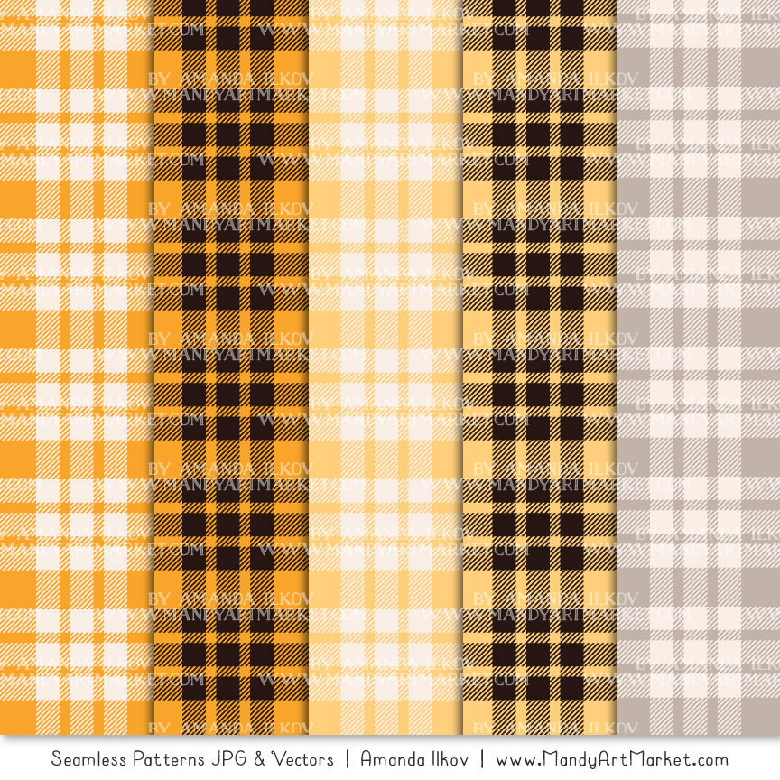 Sunshine Cozy Plaid Patterns