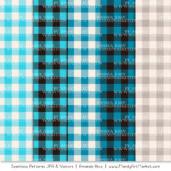 Tropical Blue Cozy Plaid Patterns