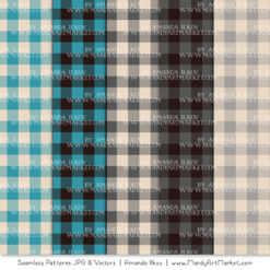Vintage Blue & Pewter Cozy Plaid Patterns