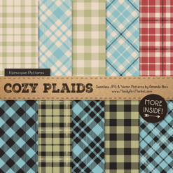Vintage Boy Cozy Plaid Patterns