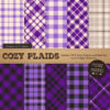 Violet Cozy Plaid Patterns