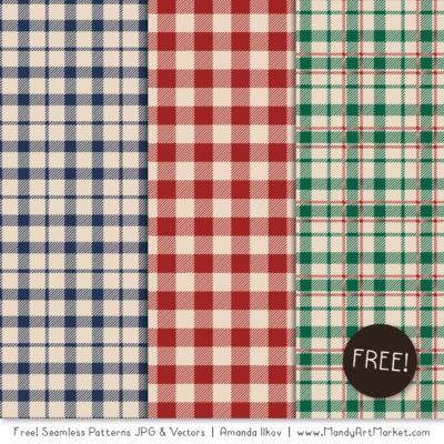 CozyPlaidFreebie package 2 400x400 - Free Cozy Plaid Patterns
