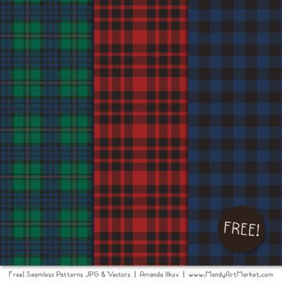 CozyPlaidFreebie package 3 400x400 - Free Cozy Plaid Patterns