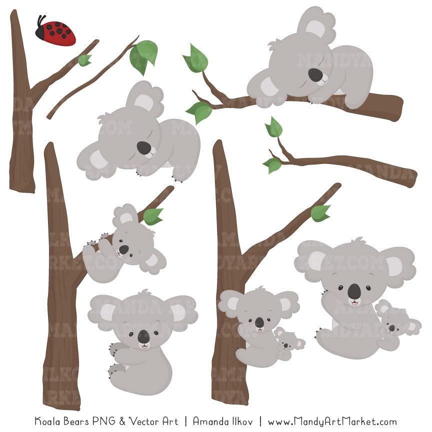 Koala Art And Design : Cute koala clipart and patterns