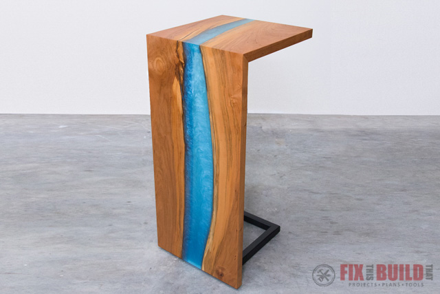 Epoxy Waterfall Table