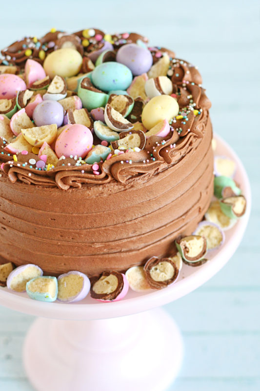 Malted Chocolate Easter Egg Cake