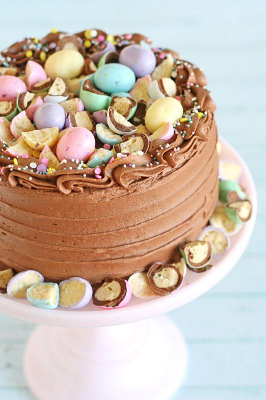 Malted Chocolate Easter Egg Cake