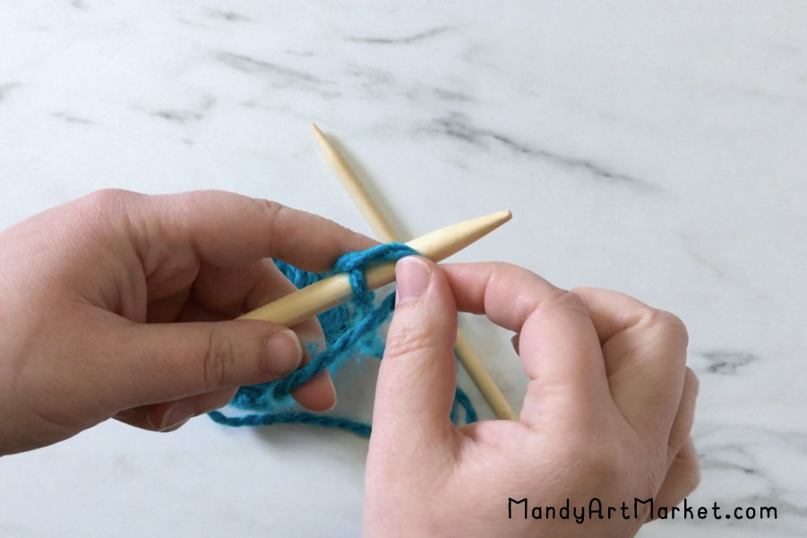 Slip Knot on the Needle - Step 3