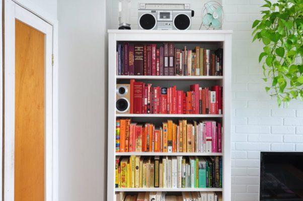 Color Blocked Bookshelves